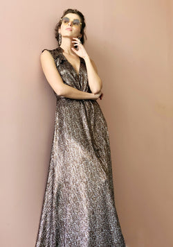 Maxi Plisse In shiny Bronze
