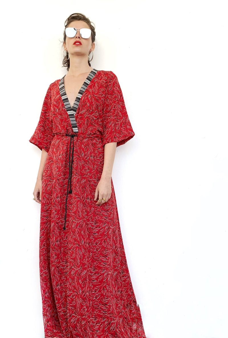 Maxi Kyoto in Printed Red