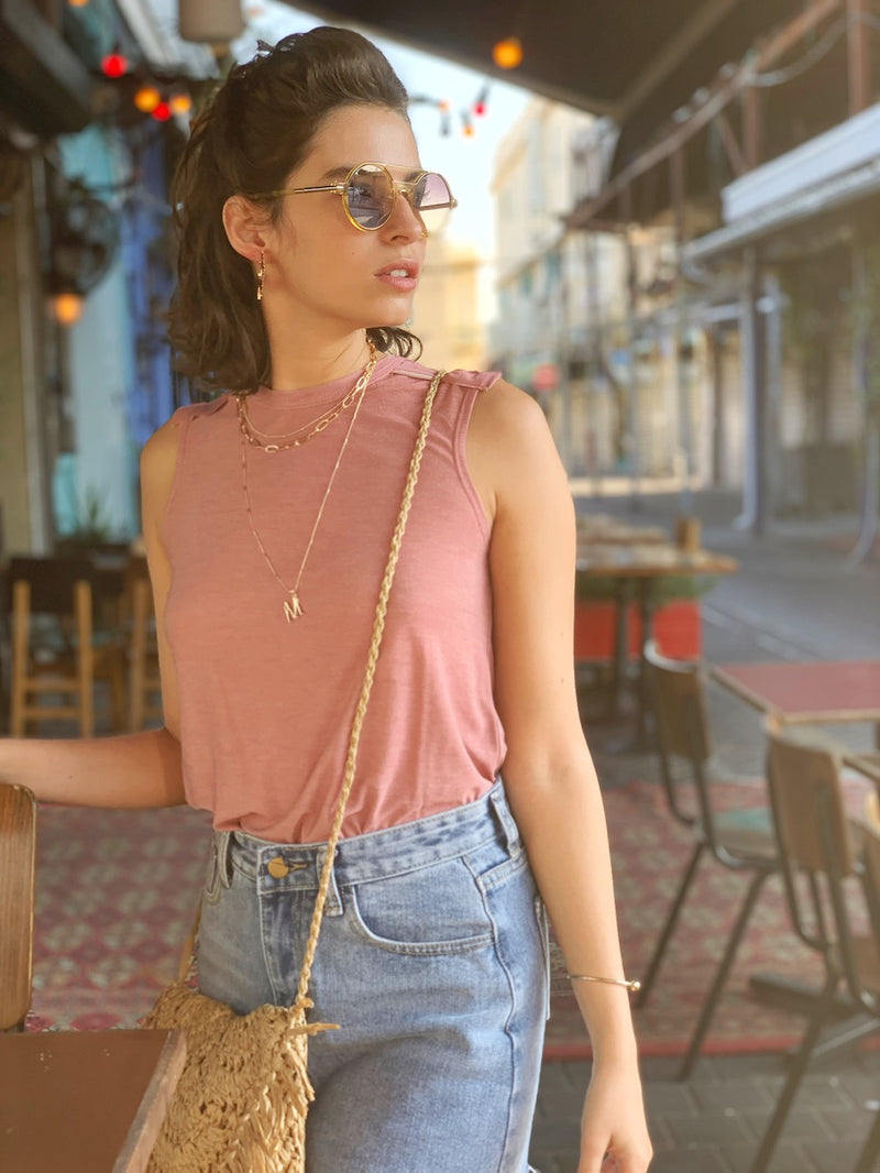 Luna Top in Dusty Pink