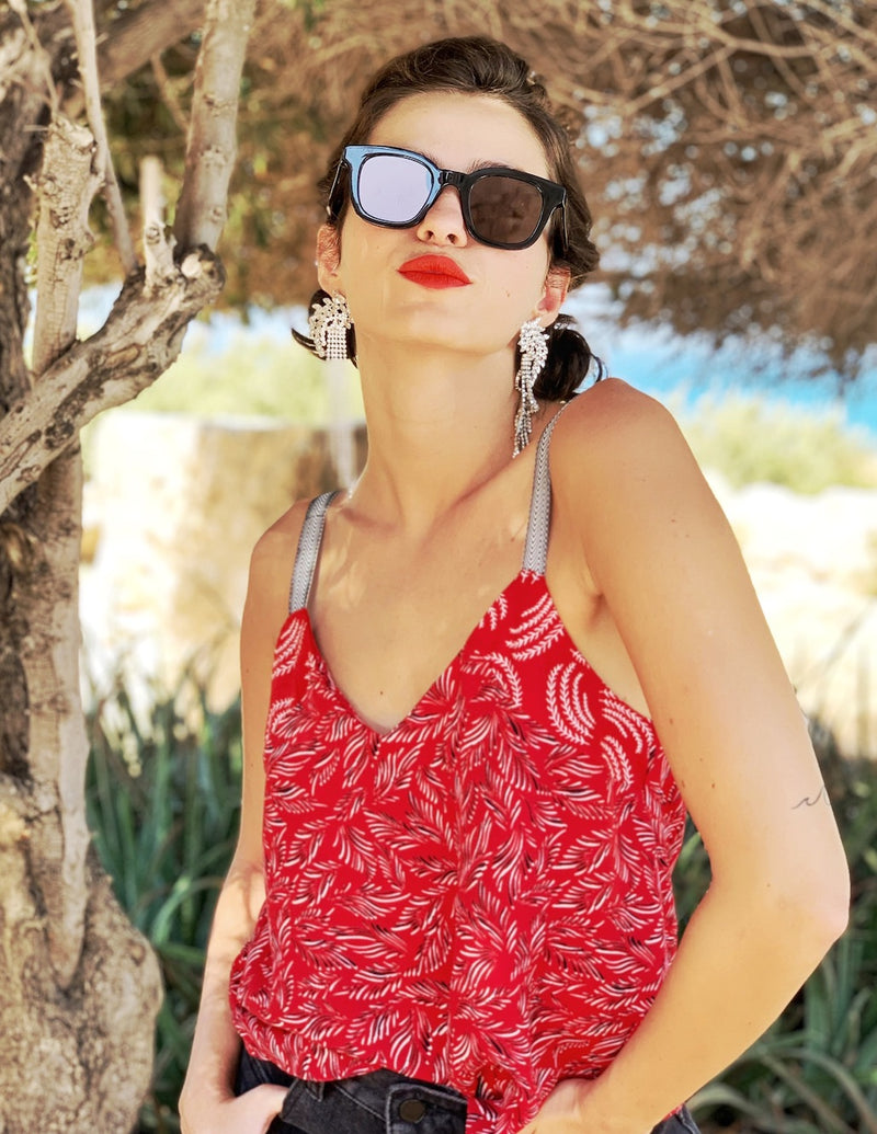Mexicana Top in Red