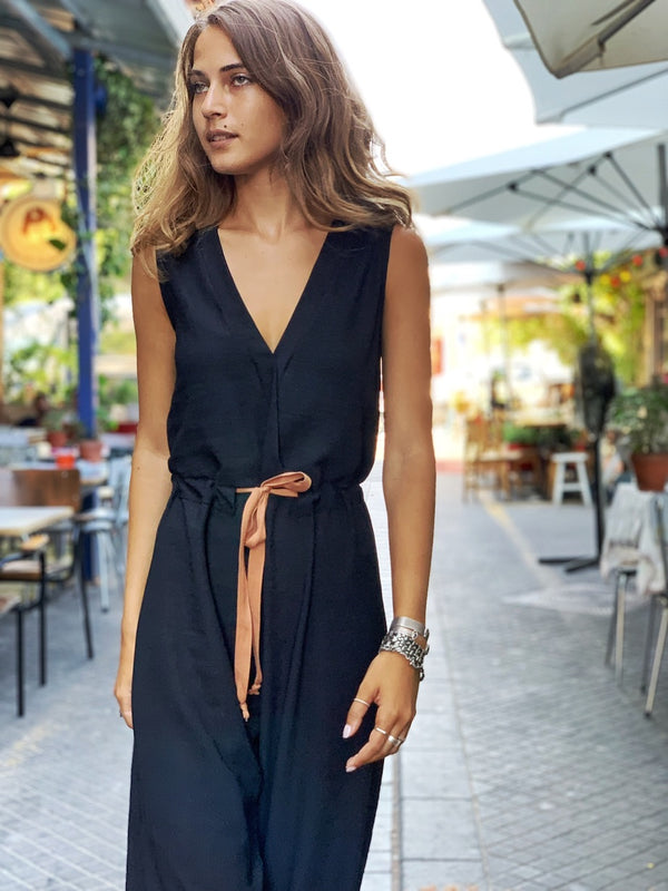 Dallas Jumpsuit in Black