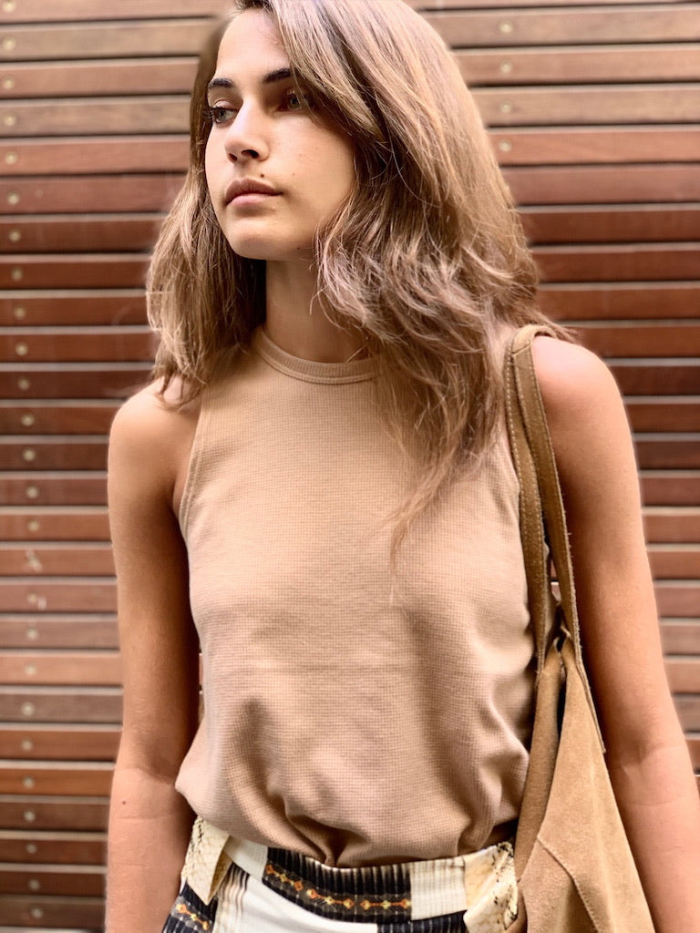 Lily Top in Nude pique