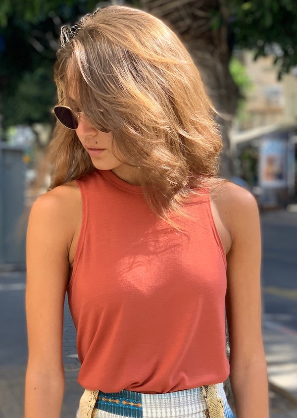 Lily Top in Brick