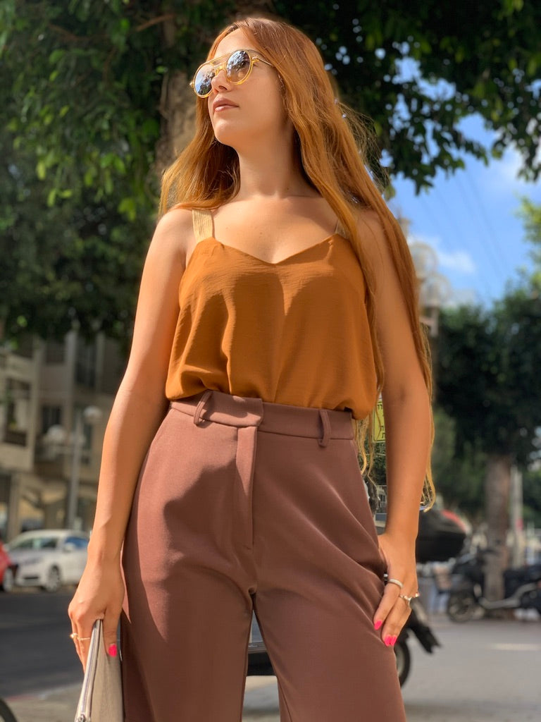 Mexicana Top in Brown