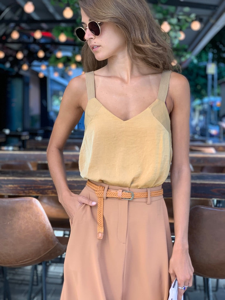 Mexicana Top in Mustard