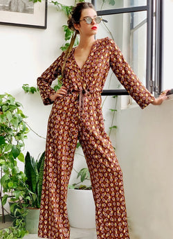 Manhattan Jumpsuit in Golden print