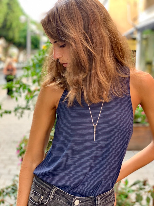 Lily Top in Striped Navy