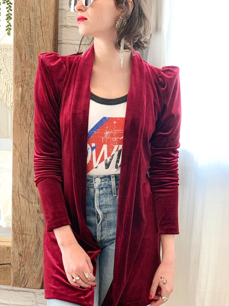 Berlin Jacket in Red Velvet