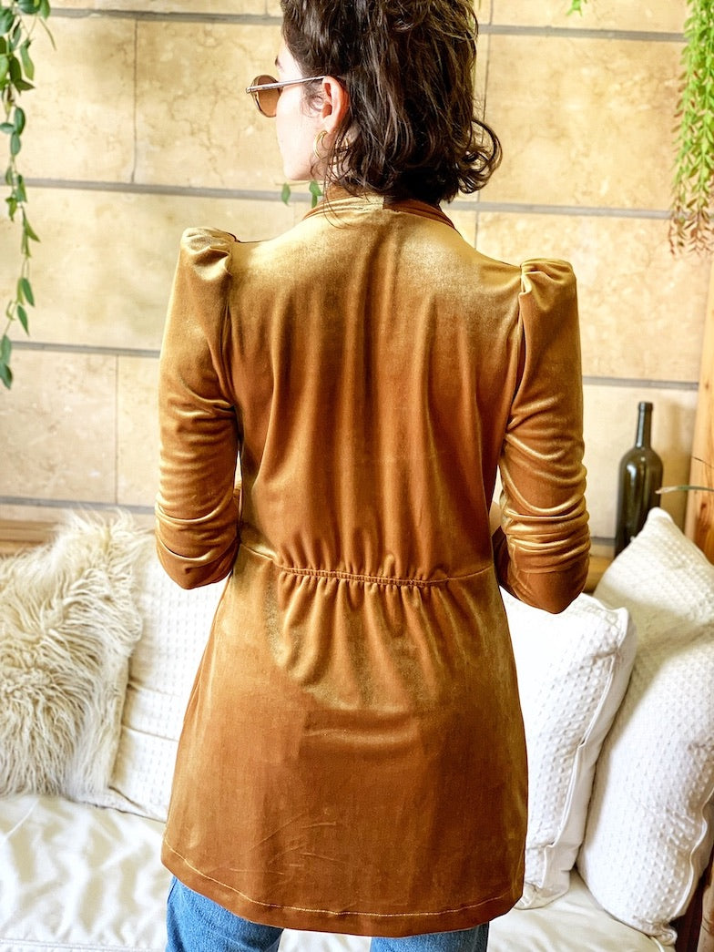 Berlin Jacket in Mustard Velvet