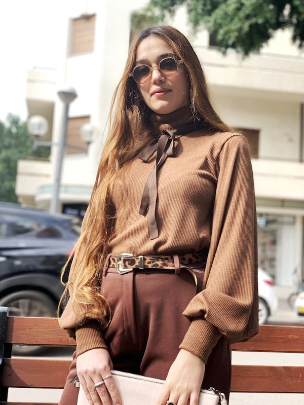 Katharina Top in Moka Brown