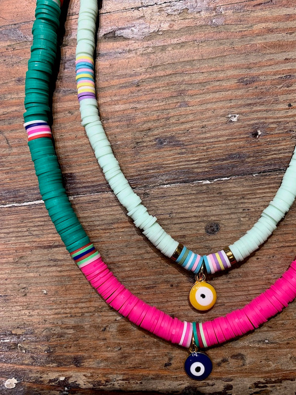 Yellow Eye Tribe Necklace In Light Turquoise