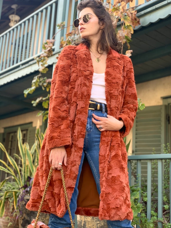Bardot Coat In Faux Fur