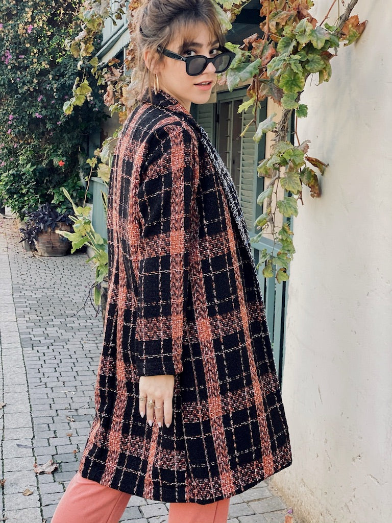 Bardot Coat In Brown & Black