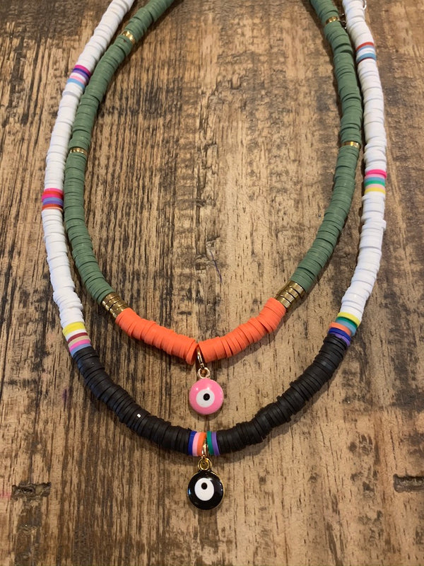 Black Eye Tribe Necklace In Black & White