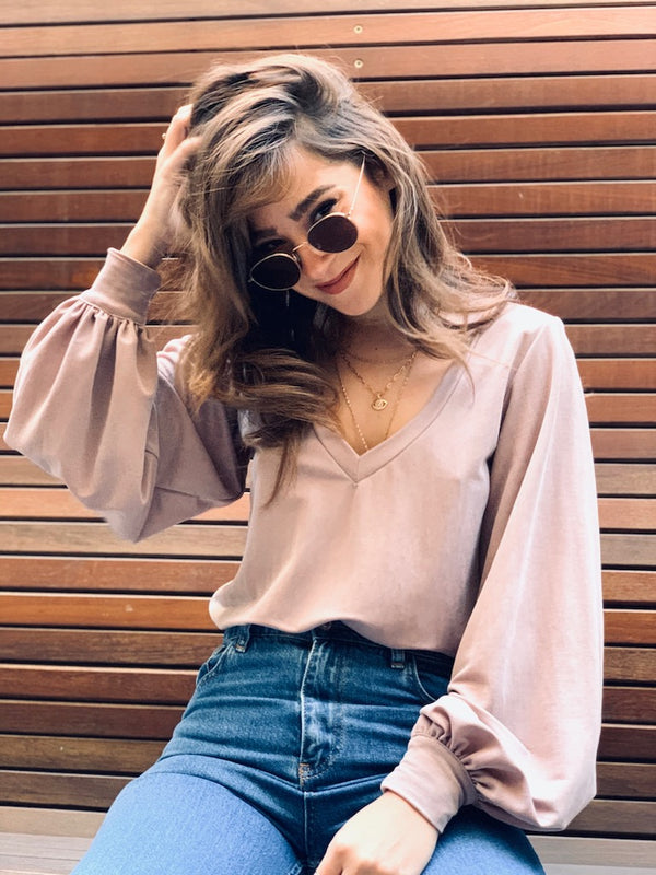 Isabelle Top in Pink Moka