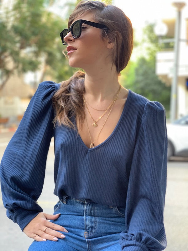 Louise Top in Navy