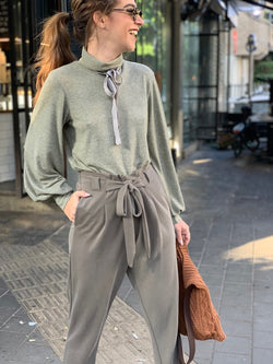 Isabelle Pants in Khaki Green
