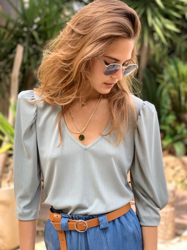 Liz Top in Baby Blue