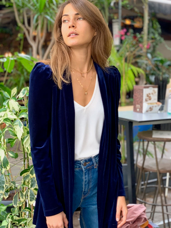 Berlin Jacket in Navy Velvet