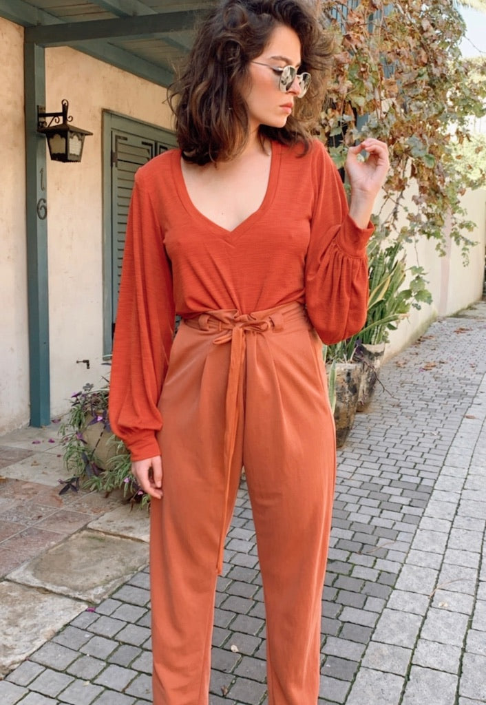 Jessa Pants in Peachy Brick
