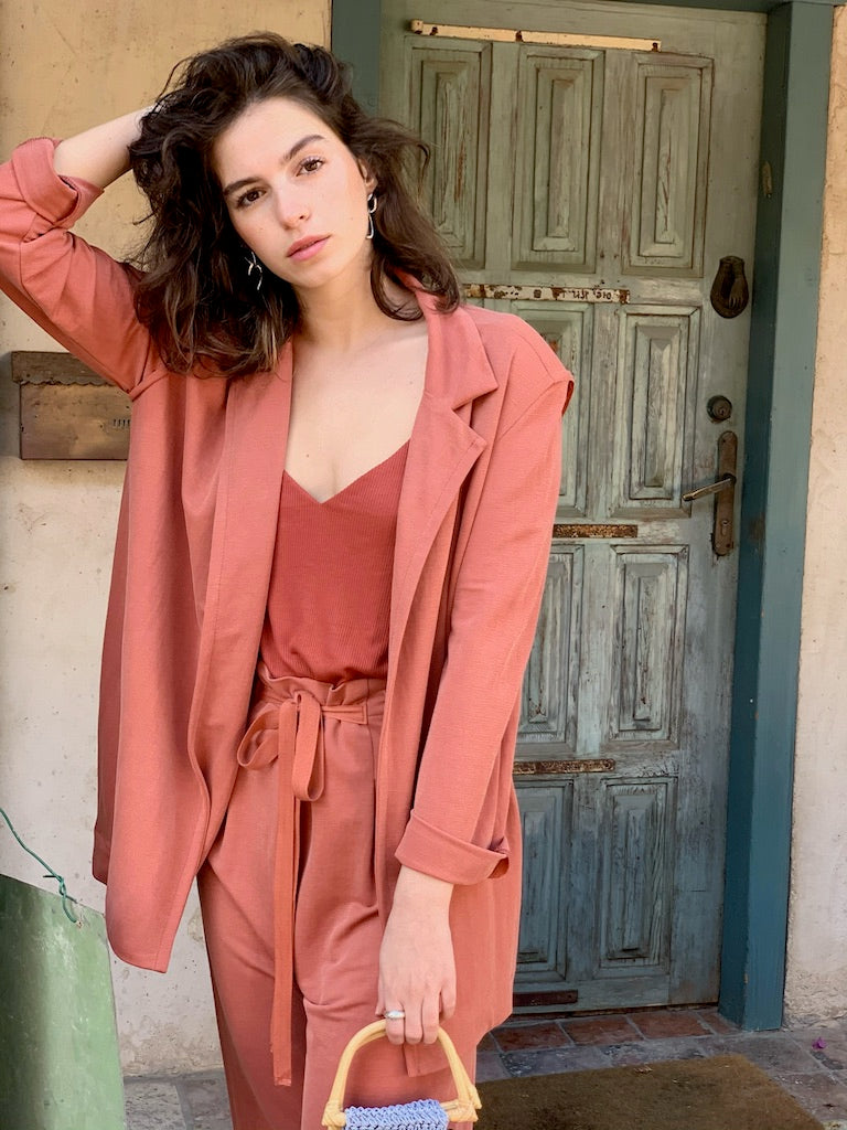 Jessa Jacket in Peachy Brick