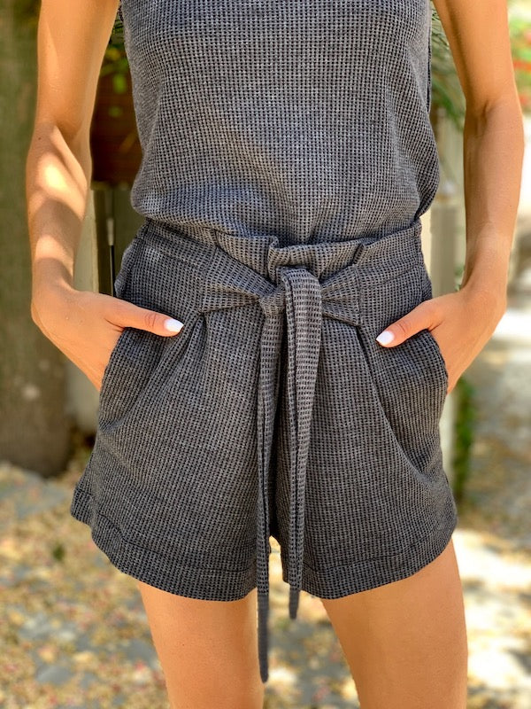 Waffle Shorts in Black