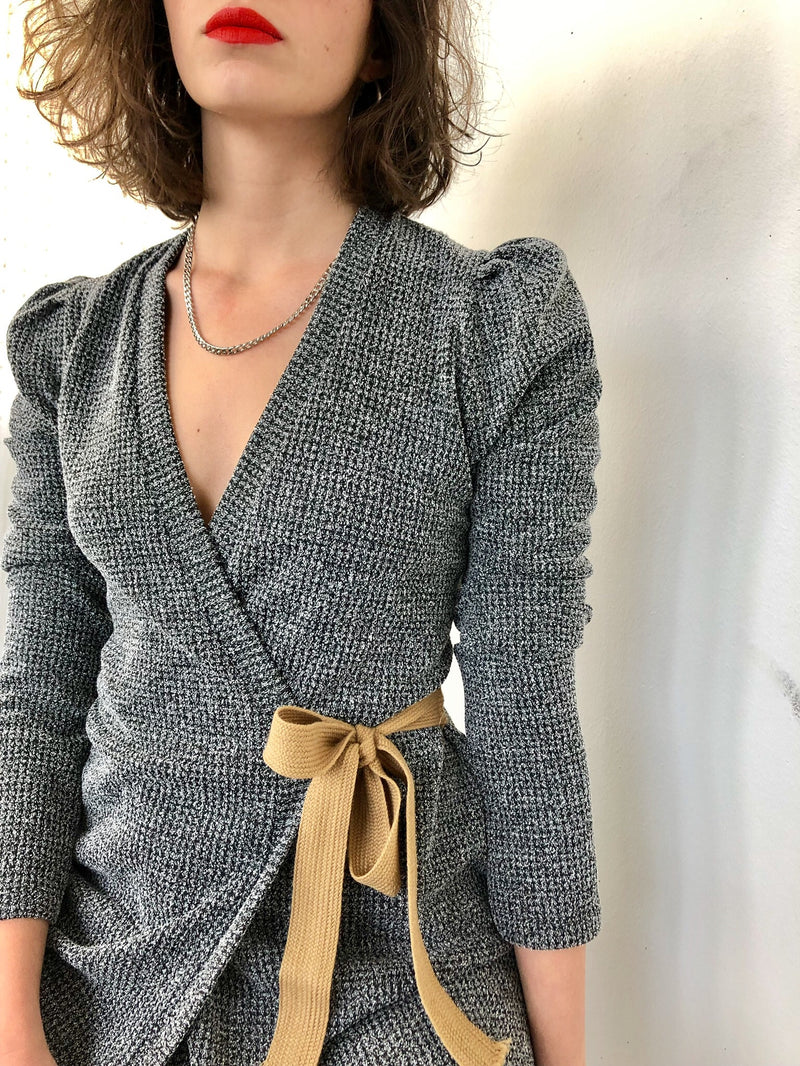 Milano wrap dress in grey