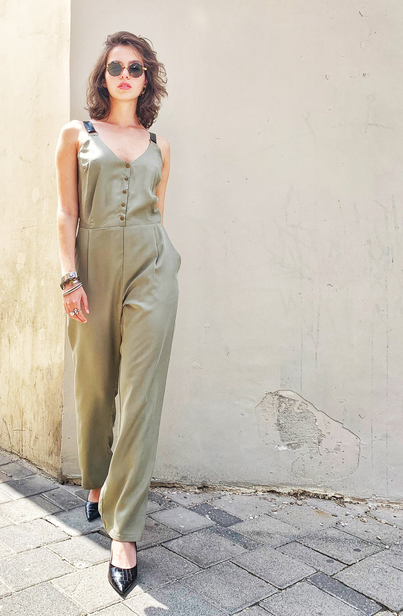 Palma Jumpsuit in Green