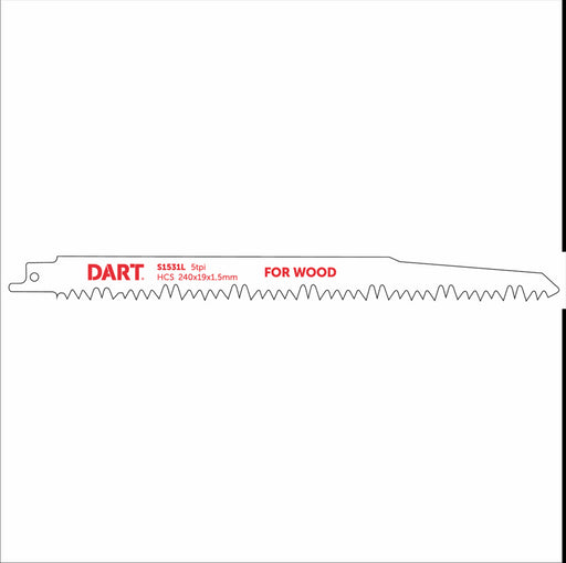 DART S1531L Wood Cutting Reciprocating Blade Pk 5 - MSS Timber