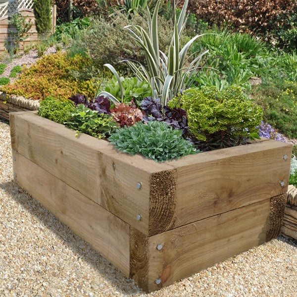 Green Railway Sleepers 2400mm x 100mm x 200mm - MSS Timber