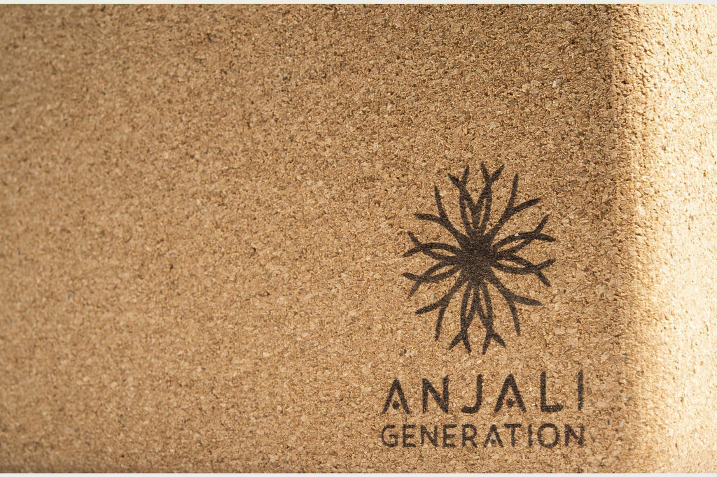 Anjali Cork Yoga Block-Yoga Accessories-Anjali Generation