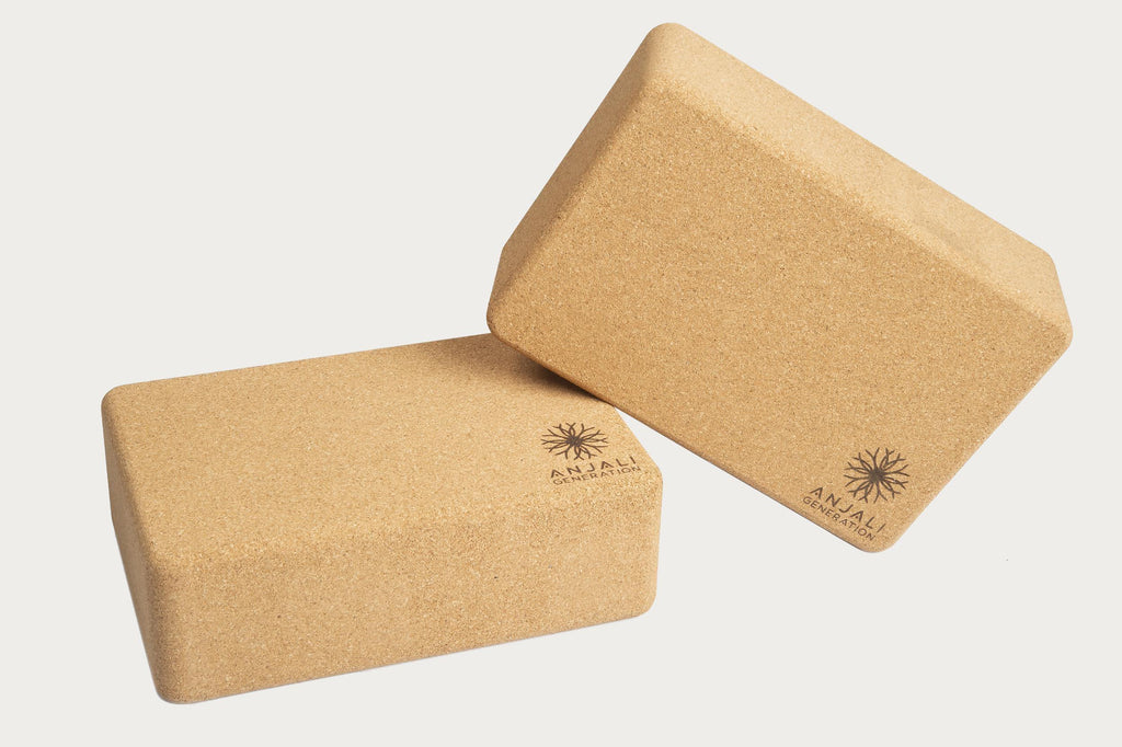 Anjali Cork Yoga Block Pair-Yoga Package-Anjali Generation
