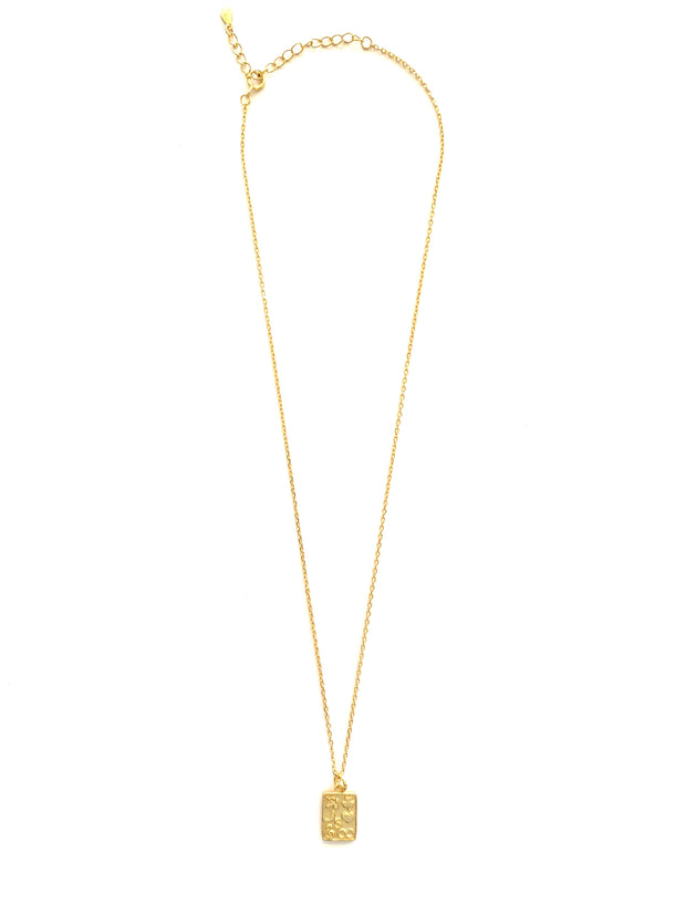Stylish Square Gold Coin Necklace