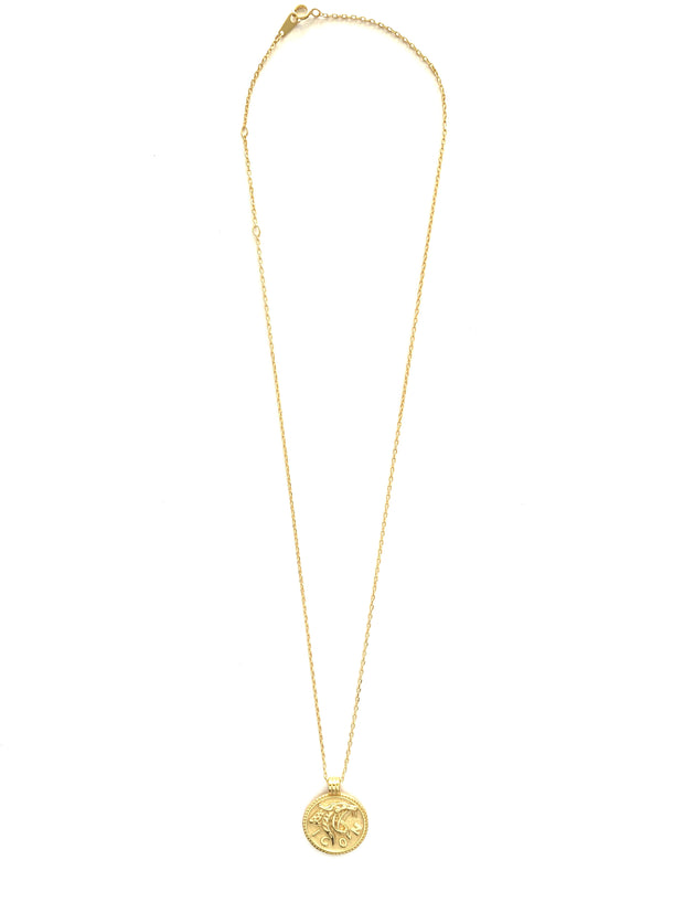 Leopard ICON Gold Coin Necklace