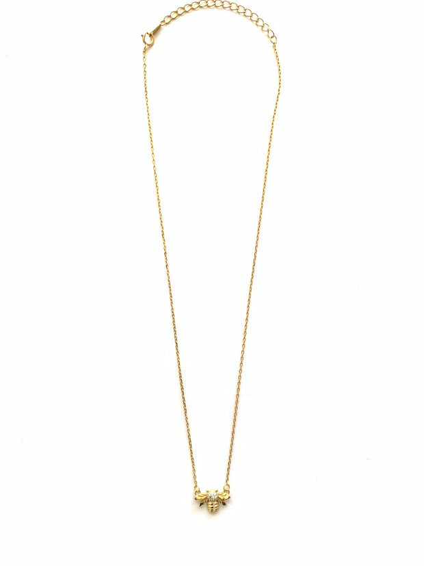 Bumble Bee Gold Necklace