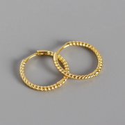 15mm Rope Gold Hoop Huggies