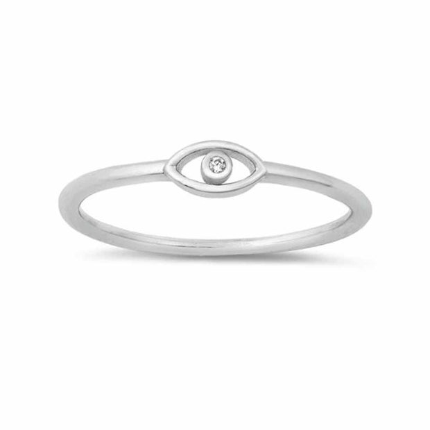 CZ  Eye Ring