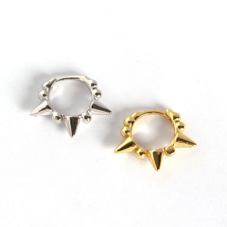 Rivets Little Hoop Huggies Earrings