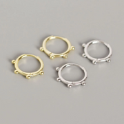 Silver hoop ear stack curated earring