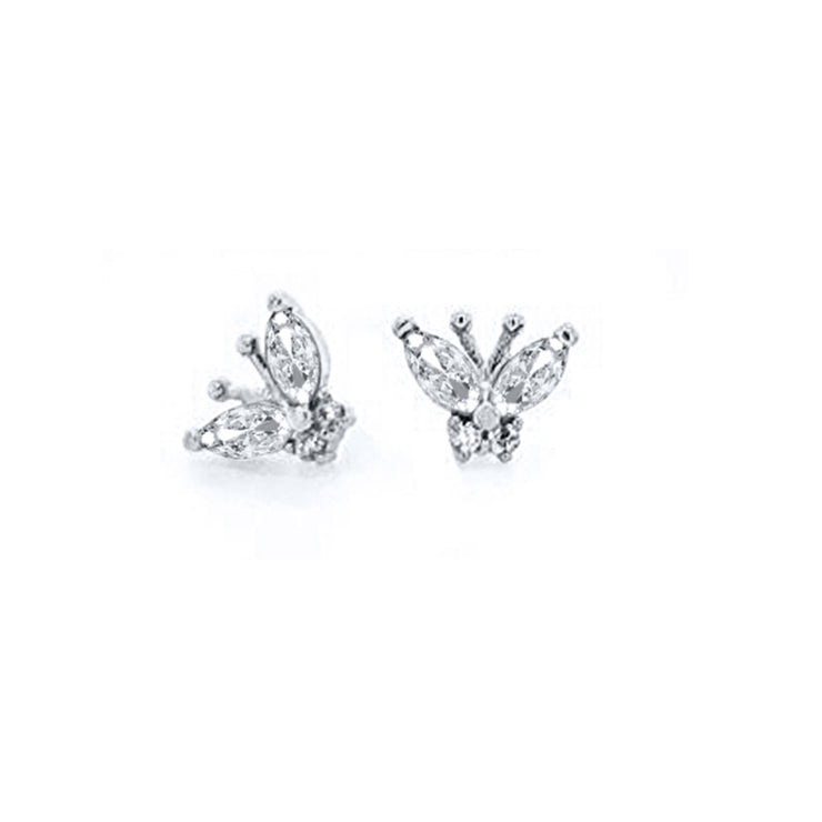 Dainty Butterfly Stud Earrings