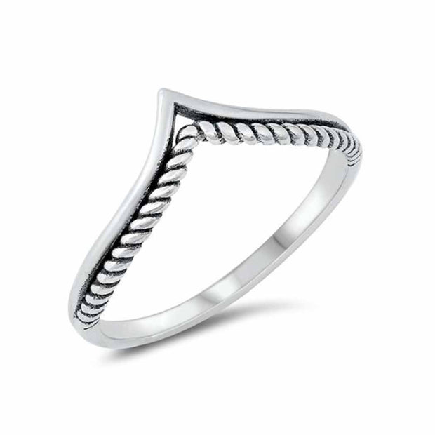 Rope V Shape Ring