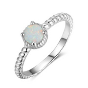 Opal with Rope band Ring