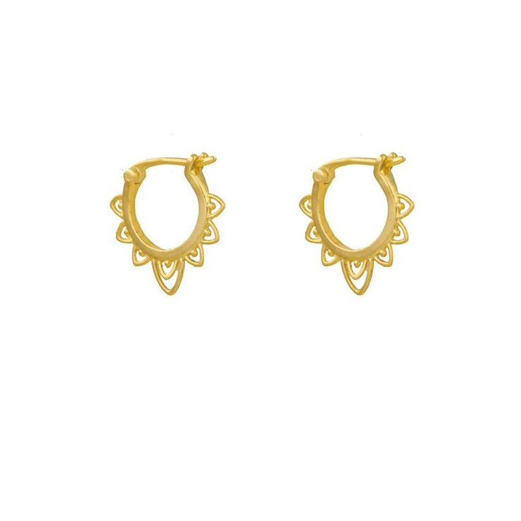 Celtic Style Gold Hoop Earrings