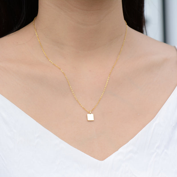 Little Square Gold  Necklace