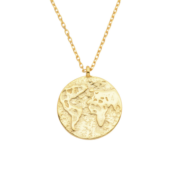 Compass of the World Gold Coin Necklace