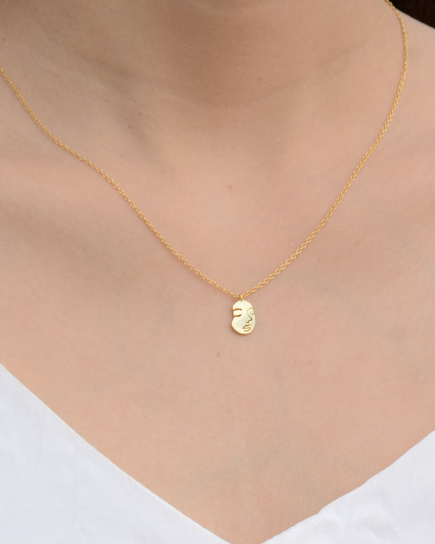 Face Gold Necklace