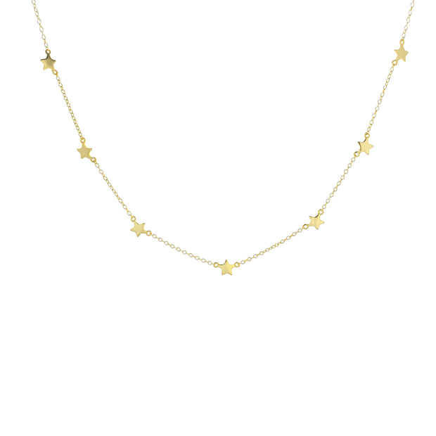 Star Gold Choker Necklace