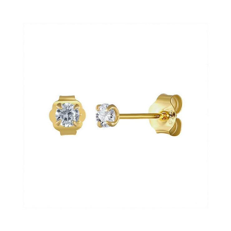 Tiny Cz Shining Small Stud Earrings