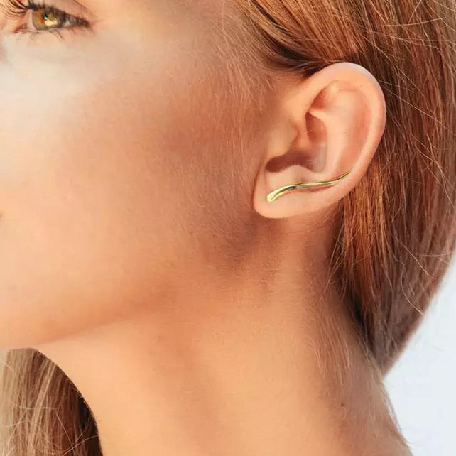 Minimalist Climber Stud Earrings