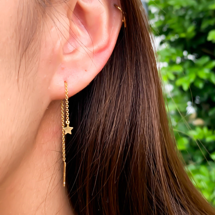 Star Gold Thread Earrings